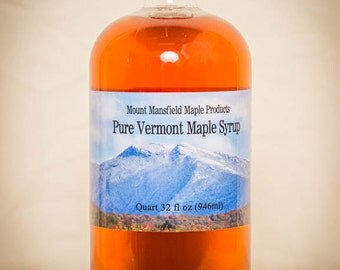 Quart (GLASS BOTTLE) - 100% Pure Vermont Maple Syrup (Any Grade)