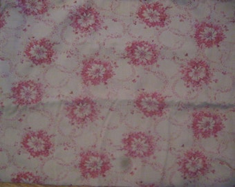 Floral Fabric, Yardage, Cotton Quilting, Brown, mauve, pink, rose, flowers