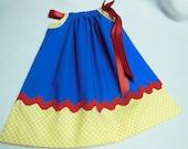Disney Snow White Theme Little Girls Pillowcase Dress  Custom Sizes NB-6yrs