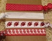 Set of 4 OU Elastic Hair Ties or Wristlets