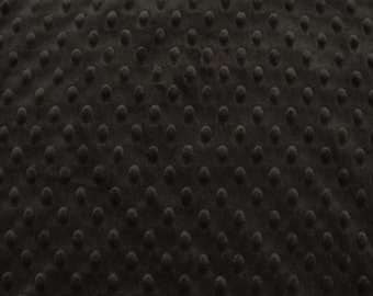 Minky Dot Fabric, Cuddle Dimple in Chocolate Brown by Shannon Fabrics, 1 Yard