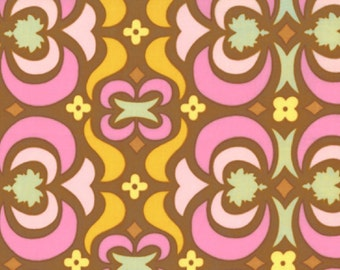 Amy Butler Fabric, Garden Maze in Brown, Midwest Modern Collection, 1 Yard