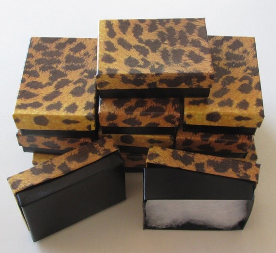 JEWELRY GIFT BOXES Leopard Print 3 x 2 x 1 (12)