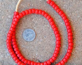 Padre Glass Beads: Orange (5x8mm)