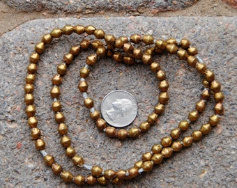 African Brass Bicone Beads: (6x7mm)