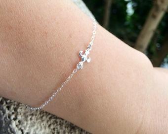 Sale Flur De Lis silver bracelet.