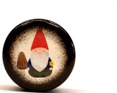 Gnome Pill Box, Little Gnome Small Pill Box, Ring Box, Wedding Ring Box, Jewelry Box, Gift Box, Nature, Woodland Friend, Wooden Box