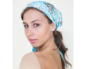 Japanese Scarf, Silk & Cotton Headwear, Womens Head Covering, Head Scarves, Tichel, HeadCovering for Hair, Gift for Her
