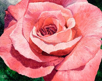 Pink Rose, 9 x 12 in.