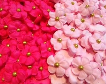 LOT of 100 mini sugar flowers