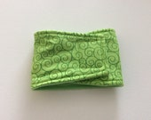 Waterproof, Absorbent, Reusable Belly Bands for Dogs - Dog Diapers - Green Swirls- Available in all Sizes