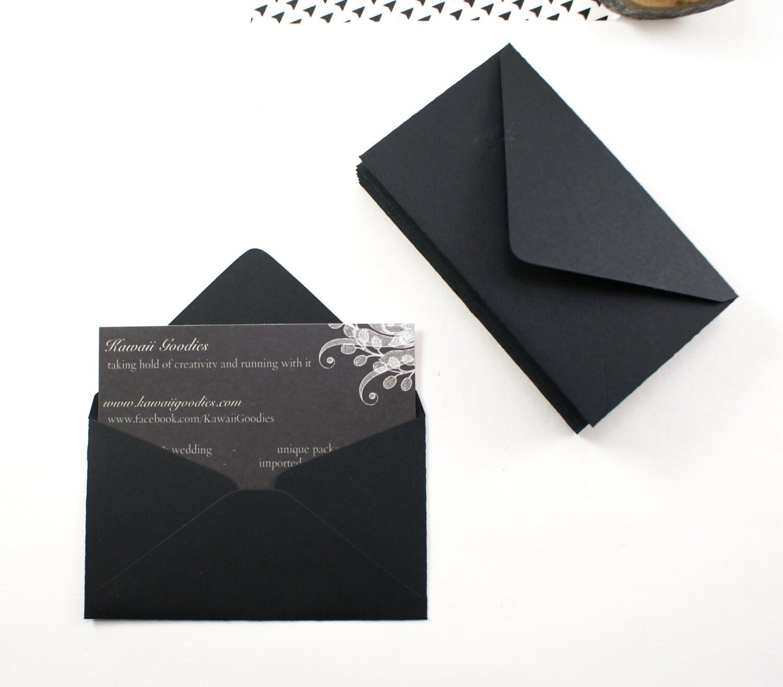 Business card envelopes 50 black envelopes 2 by kawaiigoo s