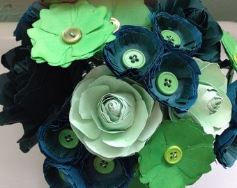 Paper Flowers All Green