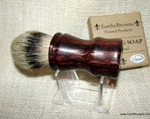 Devil Wood Cocobolo Shaving Brush Chunky Handled, 24mm Silvertip, Anchors Away Cabochon, #DD3