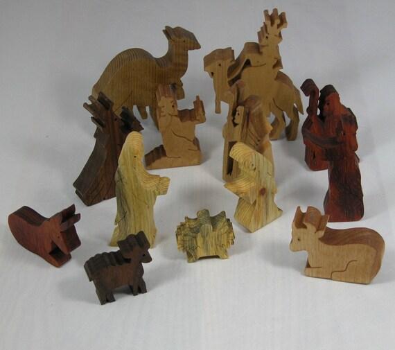 Items Similar To Nativity Set 13 Piece Holiday Decor
