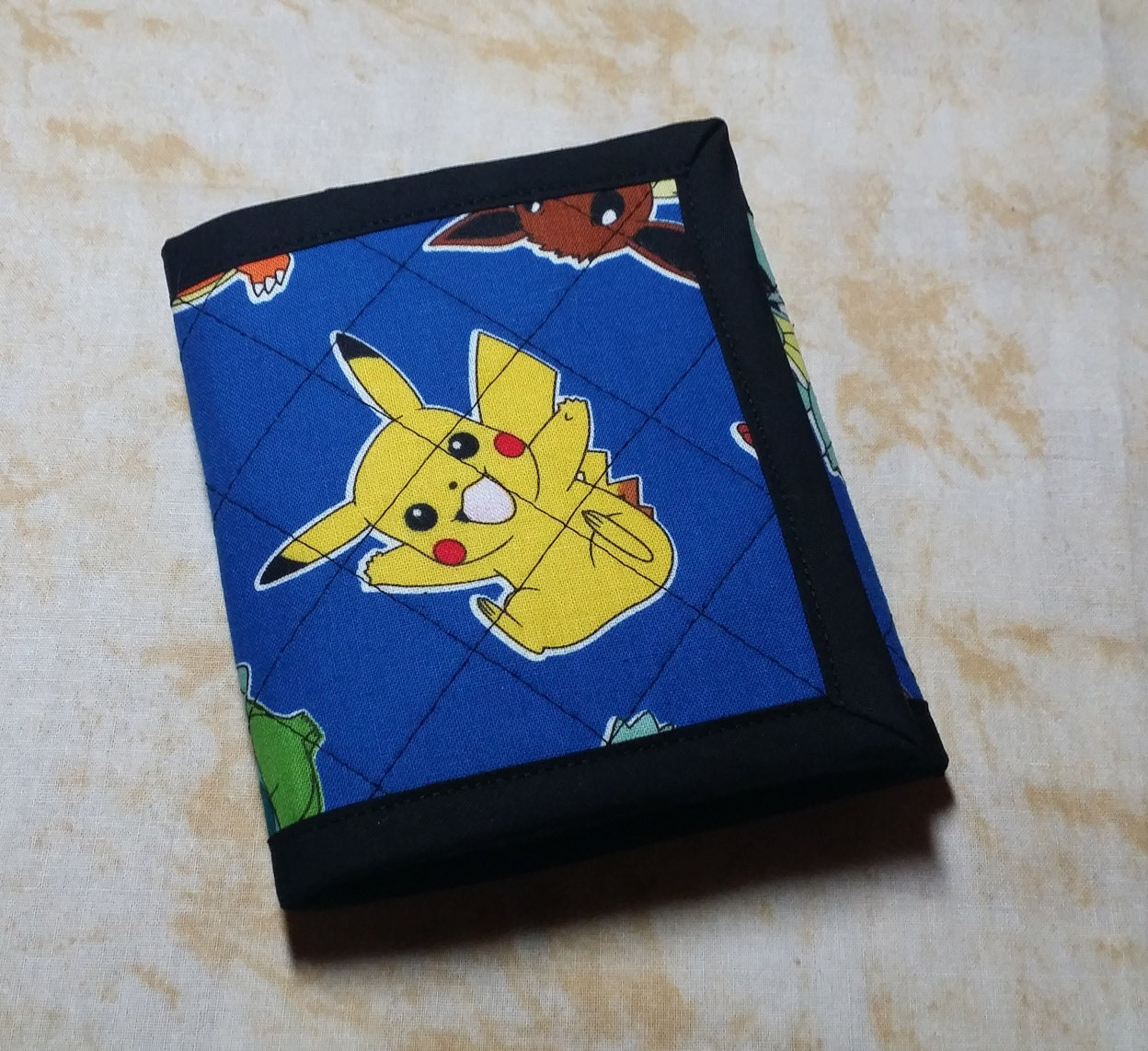 Pokemon Quilted Wallet Pikachu Squirtle