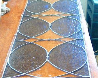 Retro Style Stained Glass Sidelights or Transom