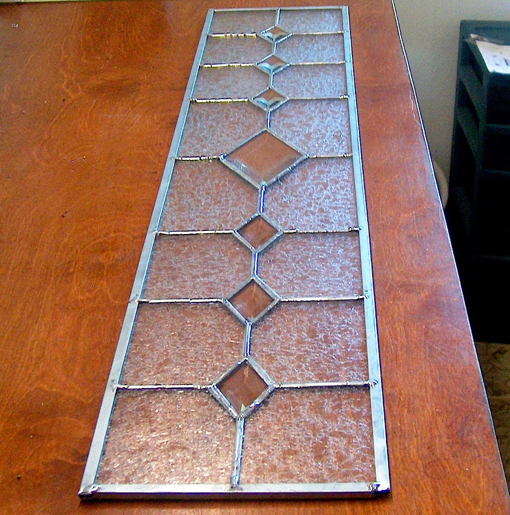 Custom Sidelight Stained Glass Panel Victorian Style