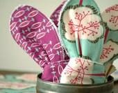 Purple Mint Baby Teether Scarf Bib Set, Wood Toy, Bandanna Scarf Bib, Reversible Teething Drool Bib, Teething Baby Set, Mint Green
