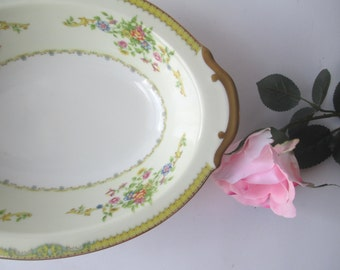 Vintage Newloch China Floral Oval Serving Bowl
