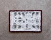Sagittarius Constellation Crochet Doily, Zodiac Decor, Astrology, Archer, Bow and Arrow, Valentine Gift for Men