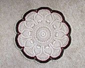 Large Crochet Lace Doily, Pineapple Decor Centerpiece, Christmas Table Decoration, New Table Topper, Ecru, Burgundy, Green