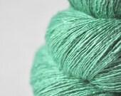 Chilly green sea - Tussah Silk Lace Yarn