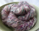 Handspun and dyed cormo wool and mohair