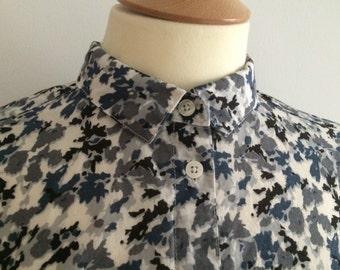 Autumn camo style print minimal shirt (s)