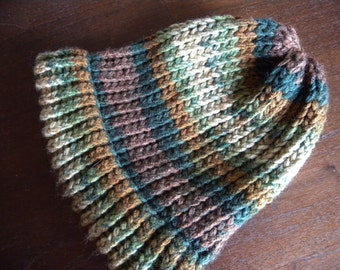 SALE - Earthy Woodsy Forest Knitted Beanie