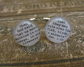 Custom Cuff Links for Dad, Husband, Brother, Father, Groom, Grandfather, Uncle, Nephew, Son, Graduate Wedding by Kristin Victoria Designs