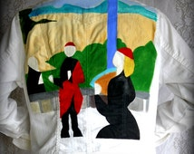 Brian Eno - Another Green World - Hand Painted Jacket