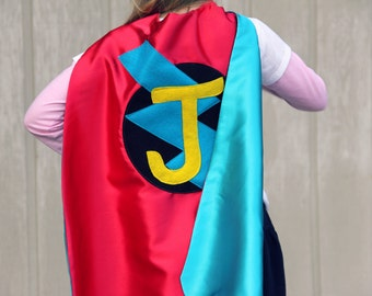 Free mask sale - Fast Delivery - Custom Cape - PERSONALIZED SUPERHERO Cape - Choose the Initial - Boy Birthday Gift or Super hero party cape