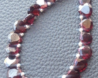 5 Matched pair of Gorgeous Item,8X8mm, NATURAL RED GARNET Faceted Cut Heart Briolettes,Best Matched Pairs