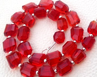 New Arrival, FULL Strand, FIRE OPAL Quartz Faceted Nuggets Shape Briolettes, 10-12mm size,Superb Item at Low Price