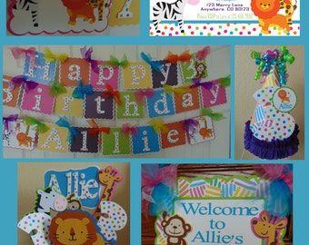 Zoo Animals Ultimate Birthday Party Package