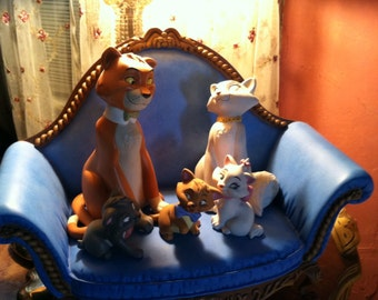 Vintage cats from Aristocrats Disney figurines