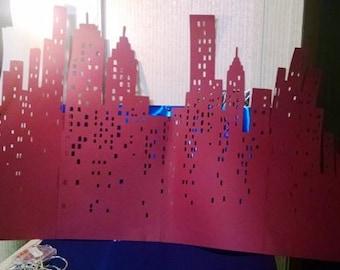 DIY 22 inch tall New York skyline
