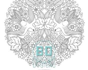 Swallow coloring page pdf file