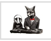 DJ CRAFTY FOX  A4 Print
