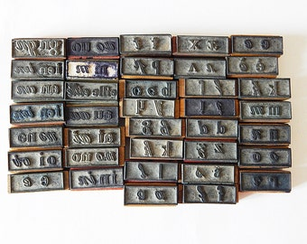37 letter stamps vintage french school stamps