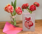 Embroidery Valentins card