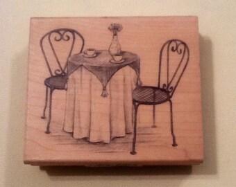 Cafe Wood Stamp  // New from Inkadinkado