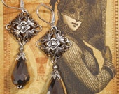 Neo Victorian Earrings - Crimson Peak Jewelry - Gothic Earrings - Ren Faire Jewelry - Tudor Jewelry - Gift for Her - Womens Jewelry