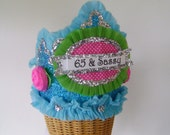 65th Birthday Party - Adult Birthday Party Crown/Hat- 65 & Sassy or customize