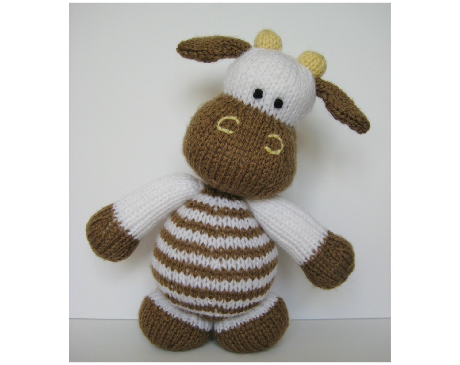 Knitting Pattern Cow Toy : Milkshake the Cow toy knitting pattern by fluffandfuzz on Etsy