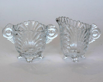 Cambridge Glass Caprice Sugar and Creamer