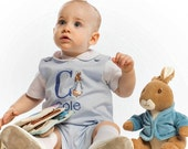 Peter Rabbit Boys Corduroy Overall with Initial and Name