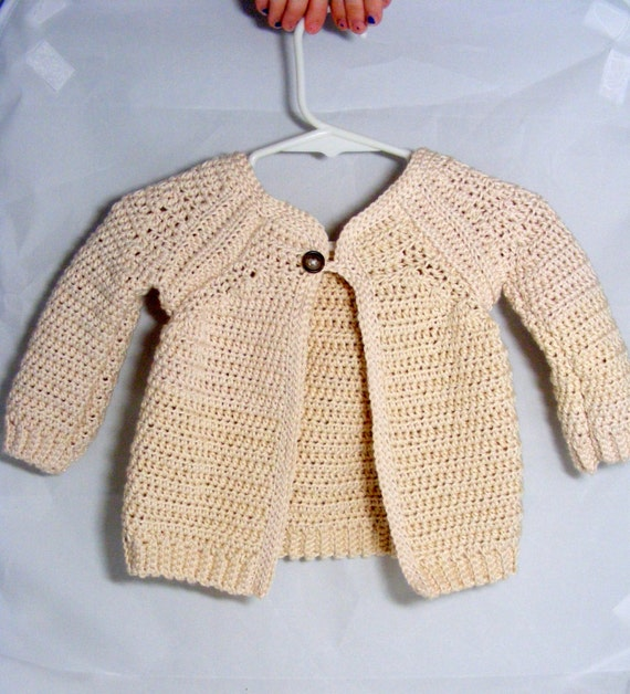 Baby Girl Sweater Raglan sleeve cardigan single button jacket sacque for infants babies toddlers cotton sweater