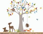 Wall Decal Nursery, Baby Nursery Wall Decal, Tree Wall Decals, Nursery Wall Decals, Forest Wall Decals, Boys Nursery Decals